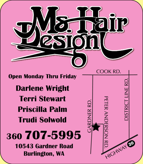 Yellow Pages Ad of Ms Hair Design